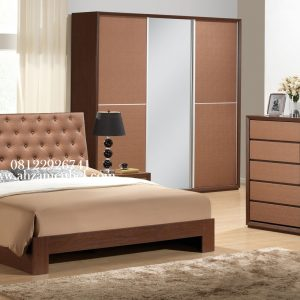 Set Tempat Tidur Minimalis Kayu Jati Mebel Jepara
