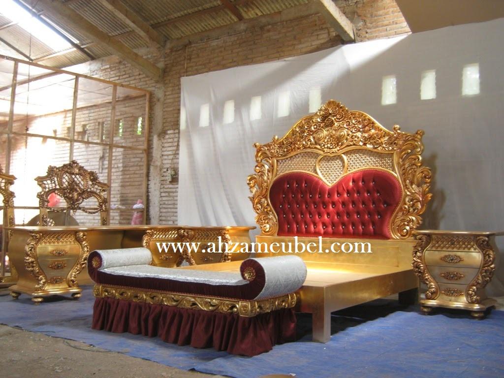 Set Tempat Tidur Ukir Mewah Mebel Jepara